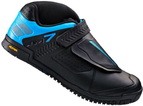 Shimano AM7 Flat Sole Off Road Shoes - Black / Blue